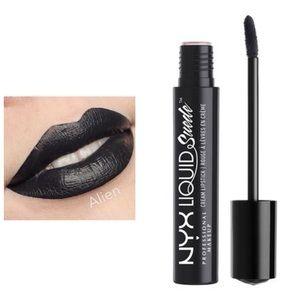 NYX Liquid Suede Black Lipstick